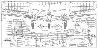 McDonnell XP-67 Interceptor model airplane plan
