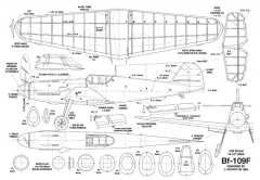Me-109F model airplane plan