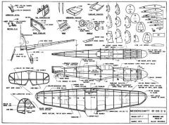 Me-109G6 schanzle model airplane plan