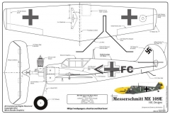 Me-109 Final model airplane plan