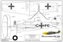 Me-109 Final model airplane plan