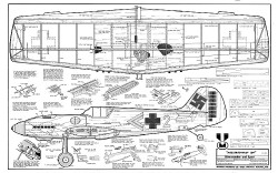 Midwest Me-109 model airplane plan