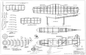 Messerschmitt ME 209V1 (BF-109R) model airplane plan