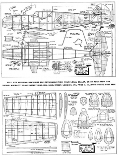 Me109E model airplane plan