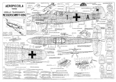 Me109G model airplane plan