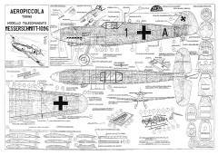 Messerschmidt Bf-109G model airplane plan
