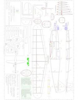 Me109K A0 Model 1 model airplane plan