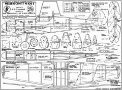 Me109 E model airplane plan