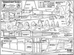 Me109 E model airplane plan