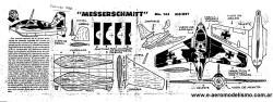 Me163 Komet model airplane plan