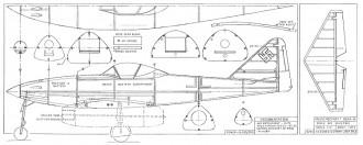 Me 262A model airplane plan