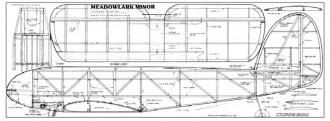 Meadowlark Minor 46in model airplane plan