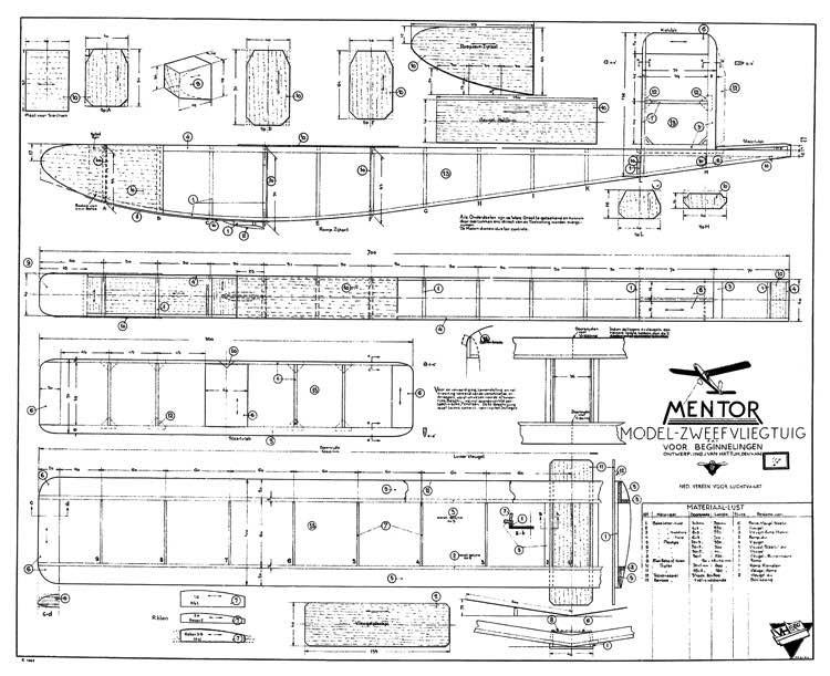 Mentor model airplane plan