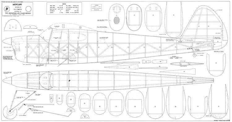 Mercury model airplane plan