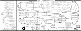 Mercury 72in model airplane plan
