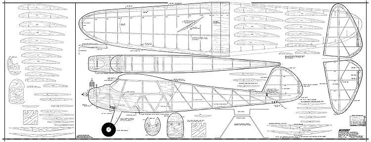 Mercury 72in model airplane plan
