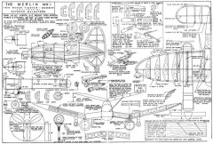 Merlin 1 model airplane plan
