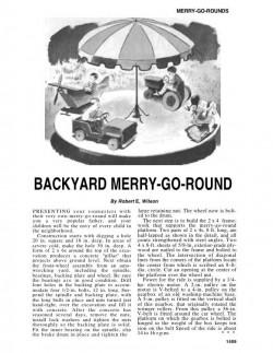 MerryGoRound model airplane plan
