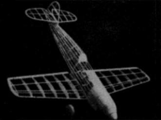 Messerchmitt Me 109 model airplane plan