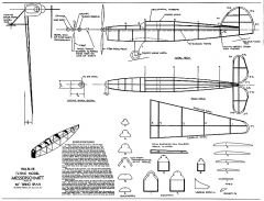 Messerchmitt Tru-Flite 20in model airplane plan