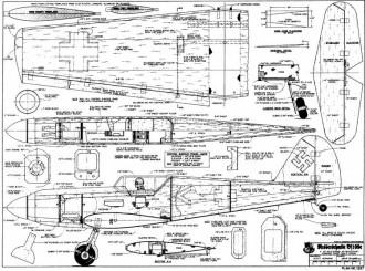 Messerschmidt BF109e model airplane plan
