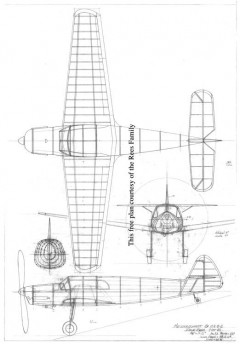 Messerschmitt 108 model airplane plan