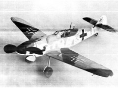 Messerschmitt Bf 109 G-6 model airplane plan