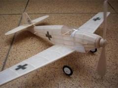 Messerschmitt Bf 109 model airplane plan