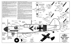 Messerschmitt Me-109 model airplane plan