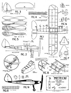 Meteor 3 model airplane plan