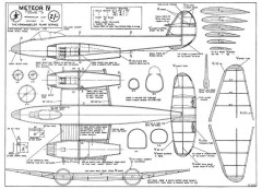 Meteor IV model airplane plan