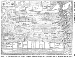 Meteor model airplane plan