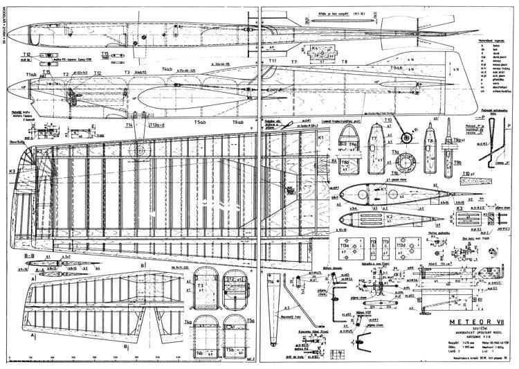 Meteor VII model airplane plan