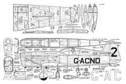 Mew Gull model airplane plan