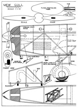 Mew Gull p1 model airplane plan