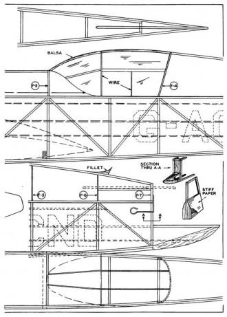 Mew Gull p2 model airplane plan