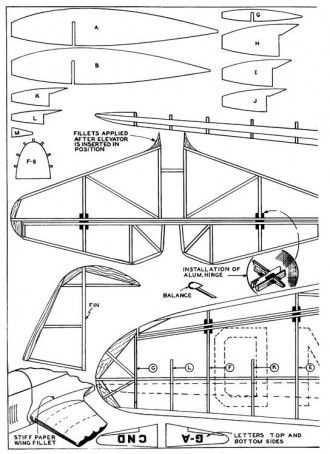 Mew Gull p3 model airplane plan