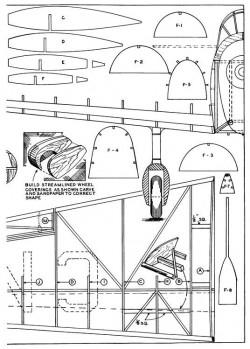 Mew Gull p4 model airplane plan