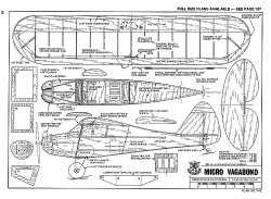 Micro Vagabond-RCM-10-78 742 model airplane plan