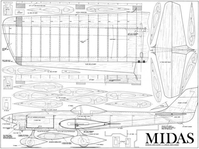 Midas-MAN08-65 model airplane plan