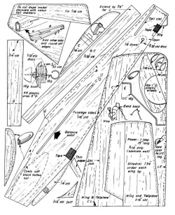 Midget model airplane plan