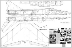 Mig-25 Foxbat model airplane plan