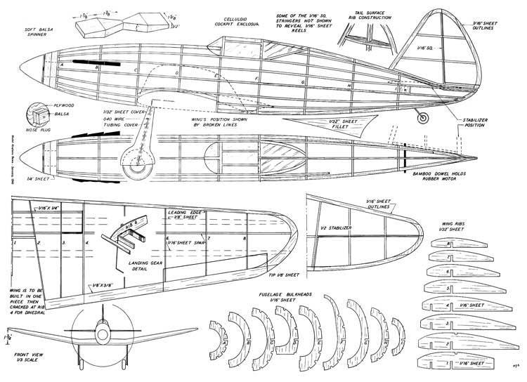 MiG-3 model airplane plan