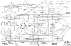 Mig 21 UC Scale model airplane plan