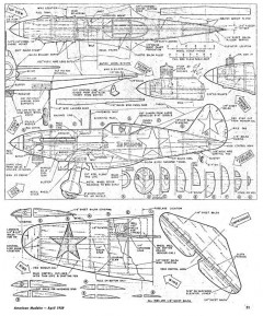 Mig 3 model airplane plan