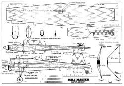 Mile Master model airplane plan
