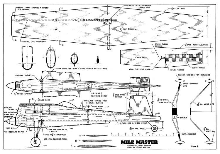 Mile Master model airplane plan