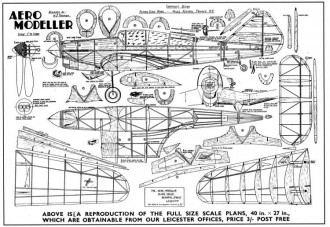 Miles Kestrel model airplane plan