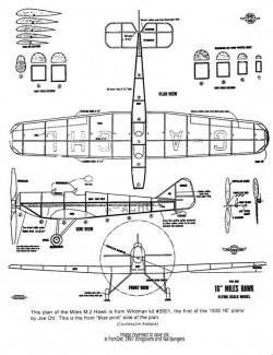 MilesM2Hawk model airplane plan