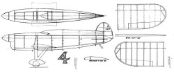 Miles Atwood model airplane plan